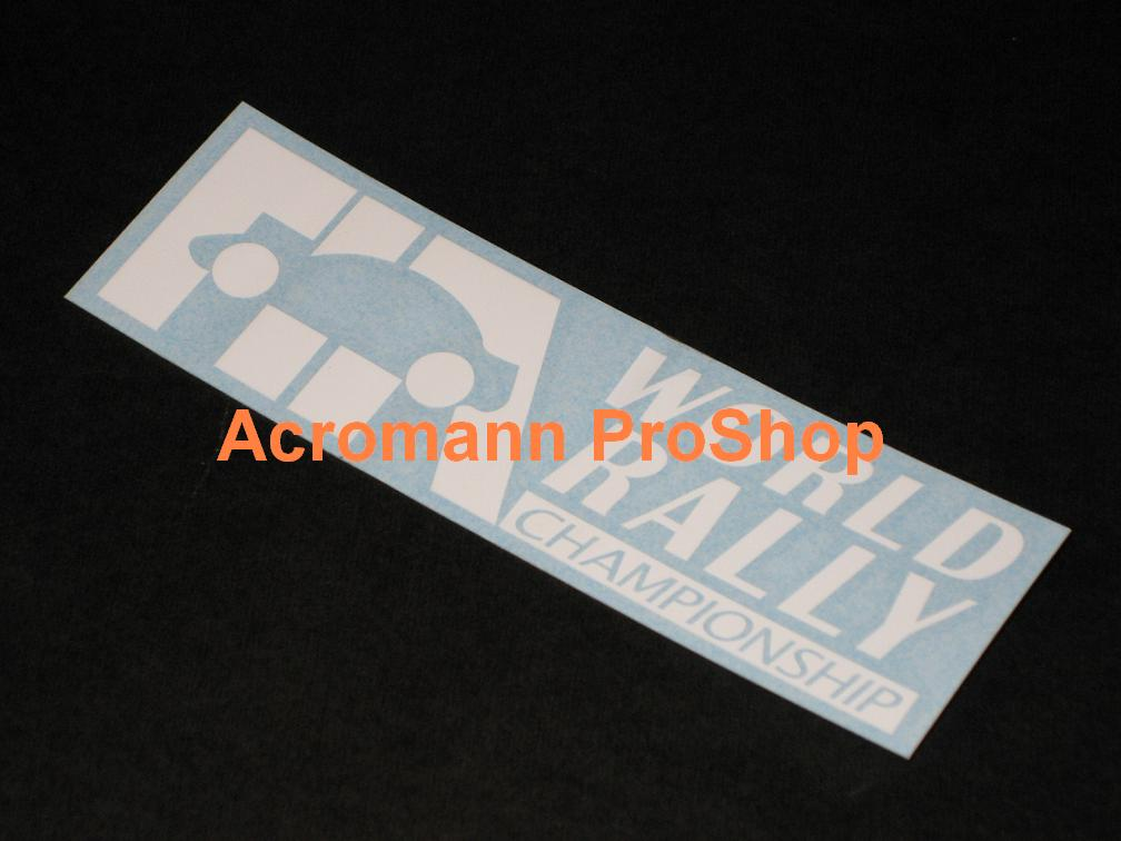 WRC FIA World Rally 6inch Decal (Style#1) x 2 pcs